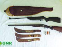 GNR apreende armas no âmbito de violência doméstica