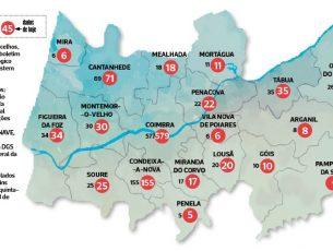 Cantanhede e Coimbra com dois novos casos de covid-19 em cada concelho