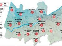 Só em Condeixa e Soure houve casos novos de covid-19