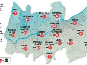 Covid-19: Região de Coimbra ultrapassa os 1.500 infetados