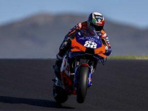 MotoGP/Portugal: Queda na qualificação deixa Miguel Oliveira na 10.ª posição