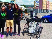 Jovem residente da ADFP em Miranda do Corvo percorre EN2 de bicicleta