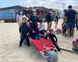 Jovens com deficiência incluídos nos batismos de surf em Mira